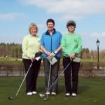 Marie Devlin, June Abernethy & Beth More before teeing off