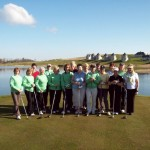 Group photo before teeing over at Lough Erne Golf Club.
