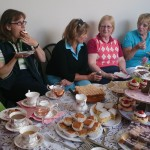 Enjoying Tea Party before going out in Ladies Captains Day