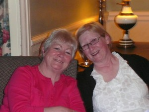 Our Lady President Gaby with Judy at weekend away at Ballymascanlon, March 2014