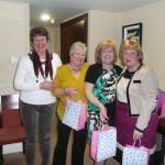 June Abernethy with Our Team Prize Winners `The Owls' (Gaby, Rosie & Marie)