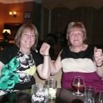 Rosie Watters and Marie Devlin enjoying the music